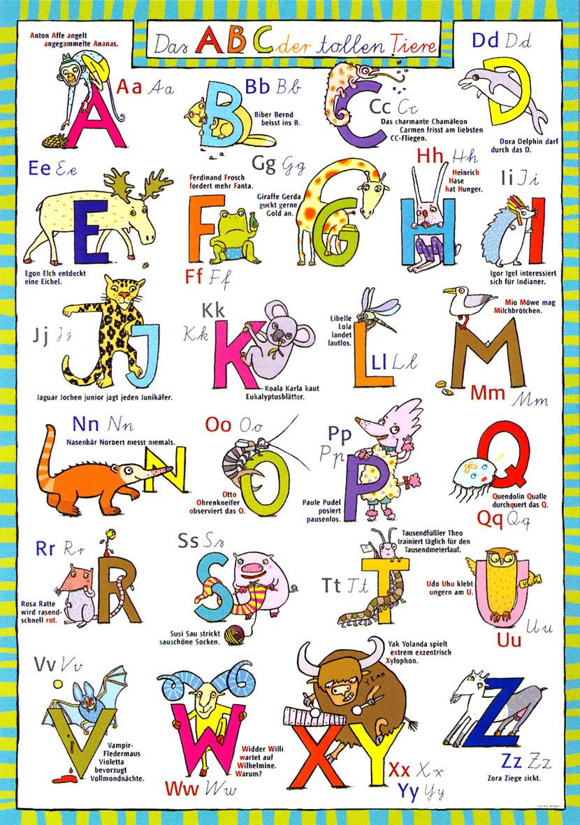 Veris Direct Das Abc Der Tollen Tiere Poster