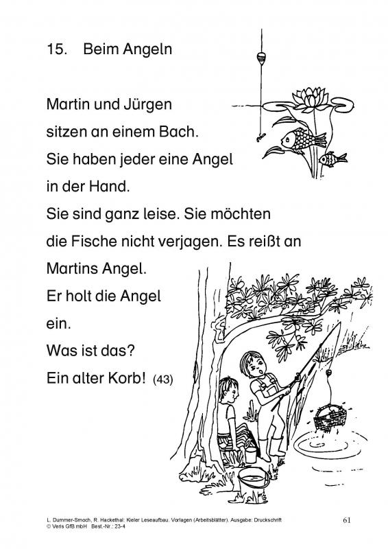 Veris Direct - Kieler Leseaufbau. Vorlagen (Arbeitsblätter). Ausgabe ...